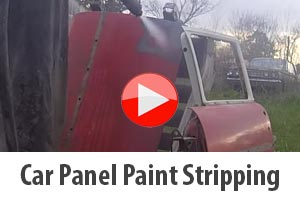 Car panel stripping during car restoration