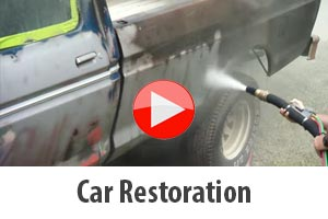 Stripping back rust during car restoration