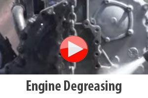 Engine degreasing and stripping